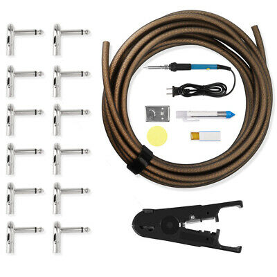 $ CDN50.07 • Buy DIY 4.5M Guitar Solder Patch Cable With 12 Plugs Soldering Kit For Effect Pedal