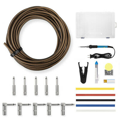$ CDN80.67 • Buy DIY 15M Guitar Solder Patch Cable W/ 10 Plugs Soldering Kit For Effect Pedals