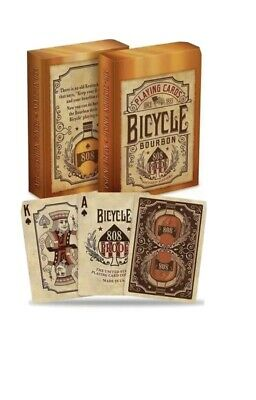 Bicycle Bourbon  Poker Playing Cards Deck By USPCC UK 🇬🇧 SELLER • 7.55£