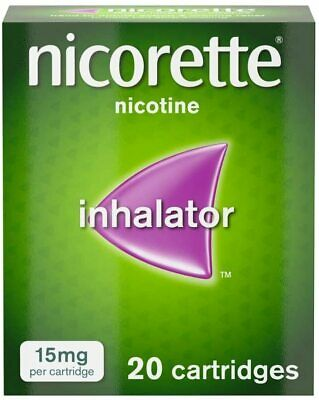 Nicorette Inhalator Nicotine - 15mg - 20 Cartridges *FREE DELIVERY* • 18.99£