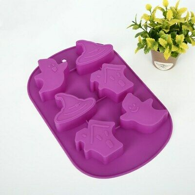 Halloween Ghost Grave Stone Shape Mold Chocolate Cookies Cake Icing Decors Mould • 4.39£