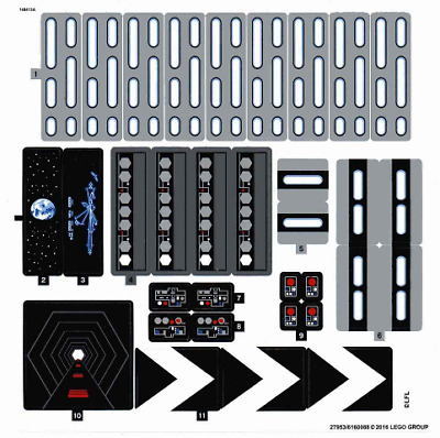 Lego Star Wars STICKER SHEET ONLY For Lego Set 75159 Death Star - UCS - New • 19.99£