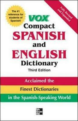 Vox Compact Spanish And English Dictionary By Vox • 14.99£