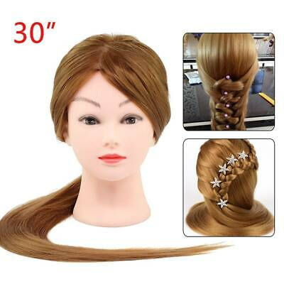 Salon Hair Styling Hairdressing Practice Doll Head Training Mannequin + Clamp UK • 11.99£