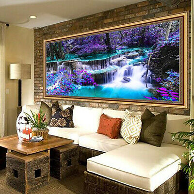 AU25.49 • Buy Large 5D Diamond Painting Decor Embroidery Cross Stitch Home Art Waterfall DIY