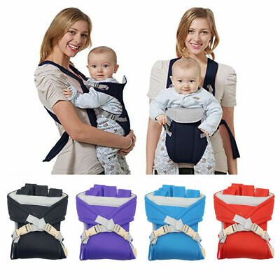 Adjustable Infant Baby Carrier Wrap Sling Hip Seat Newborn Backpack Breathable • 6.99£
