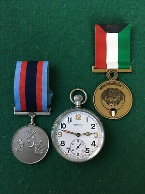 WW2  POCKET WATCH  & Two Medals • 5.50£
