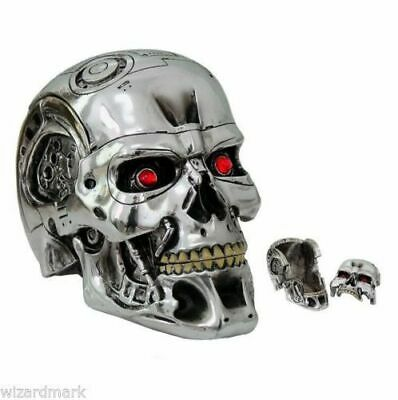 T-800 Terminator 2 Head Box Silver Skull Movie Collectable Official Merchandise • 45£