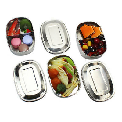 Stainless Steel Lunch Box Food Container Bento Box Well-Balanced Storage • 9.50£