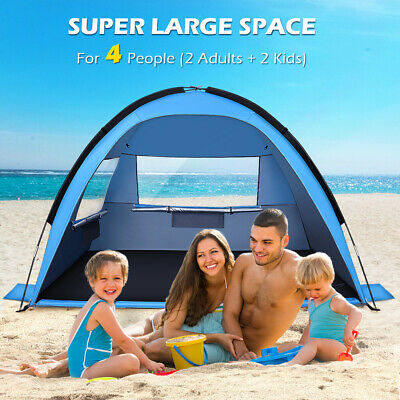 AU42.88 • Buy 3-4 Man Beach Camping Tent Outdoor Hiking Family Dome Sun Shelter Waterproof AU