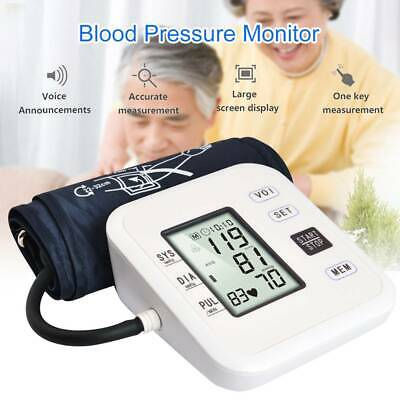 Automatic Arm Digital Blood Pressure Monitor Upper BP Machine Heart Beat Rate • 14.99£