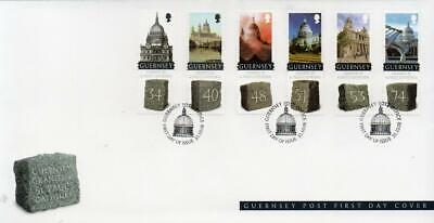 Guernsey 2008 Granite From Guernsey Used For St. Paul`s Cathedral FDC • 3£