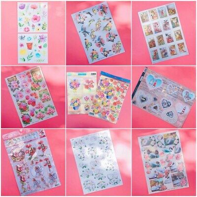 Beautiful A4 No-Cut / Easy To Use Die-Cut Card Making Toppers / Decoupage Sheets • 1.49£