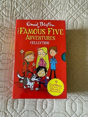 Famous Five Adventures Collection By Enid Blyton Classic Stories 9 Books Set  • 15.99£