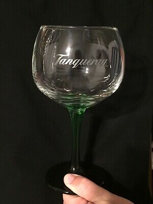Tanqueray Gin Large Green Stemmed Balloon Glass Cocktail Wine Beverage Bar Drink • 4.99£