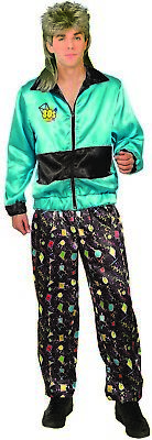 AU38.56 • Buy 80s Track Suit Mens Adult Workout Halloween Costume