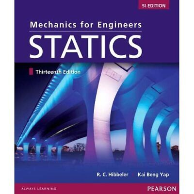 Mechanics For Engineers:Statics SI Study Pack - Paperback NEW Hibbeler, Russe 20 • 12.62£