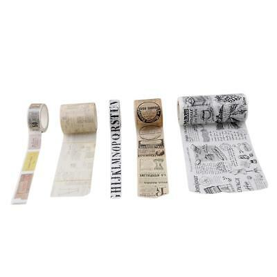 $ CDN5.17 • Buy Retro Roll DIY Washi Paper Decorative Sticky Paper Masking Tape Self New - S