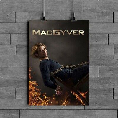 $12.49 • Buy MacGyver V2 TV Series Poster Glossy 240gsm Size A1 A2 A3 A4 Framed& Unframed