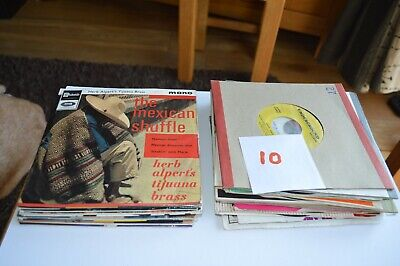 """Job Lot Of 1950's & 1960's 7"""" Vinyl Singles (Some Picture Sleeves) • 9.99£"""