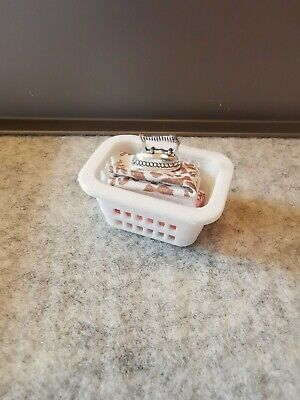 Dolls House Filled Laundry Basket With Iron - 1/12th - Miniatures - Kitchen • 4.50£