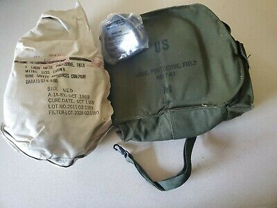 $64.99 • Buy Vintage Military Protective Field Mask W/ Canvas Bag Mi7a1 Sealed New Old Stock!