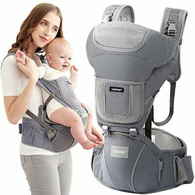 Upchase Baby Carrier, Ergonomic Hip Seat, Adjustable Multifunction, Front • 51.02£