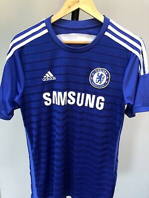 Mens Chelsea FC Football Home Shirt 2014/15 Adidas Jersey Size M • 9.99£