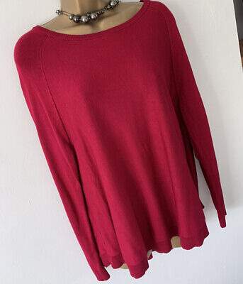 Phase Eight Oversized Slouchy Soft  Knit Jumper Pink - Size 14 • 7.99£