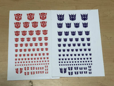 Transformers G1 Decepticons /Autobots 90+ Symbol Sticker Decal For Custom  • 2.99£