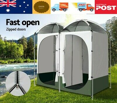 AU93.99 • Buy Weisshorn Double Camping Shower Toilet Tent Outdoor Portable Change Room Green