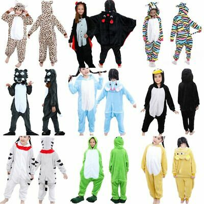 Kids Costume Fancy Dress Cosplay Onsie10 Child Unisex Hooded Animal Pajamas NEW • 11.22£