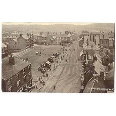 HEANOR Birds Eye View, Derbyshire, Old Postcard By Severn & Son Postally Used • 14.95£