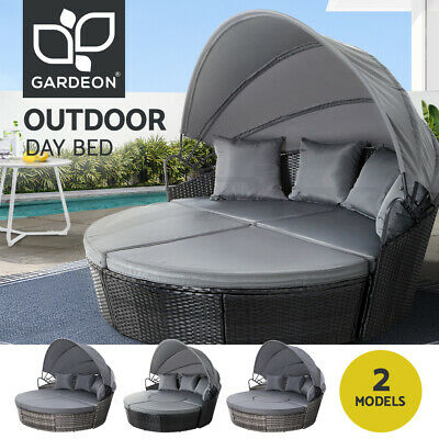 AU809.95 • Buy Outdoor Sun Lounge Setting Furniture Sofa Wicker Day Bed Patio Garden Set