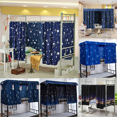1.5*2M Cabin Bunk Bed Tent Curtain Cloth Dormitory Mid Sleeper Canopy Spread Kid • 6.99£