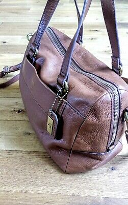 Tan Leather Fossil Bag • 10.45£