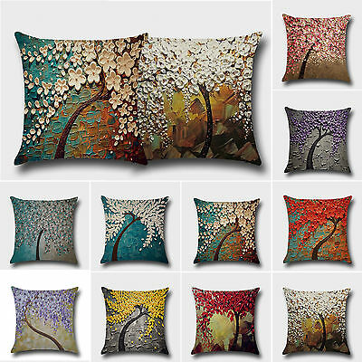 Square Cushion Printed Throw Pillow Waist Case Covers Sofa Bed Car Decor Outdoor • 4.29£