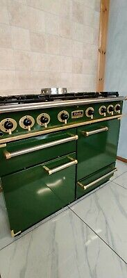 All Gas Falcon 110cm Range Cooker In Green And Brass. Ref--a68 • 1,290£