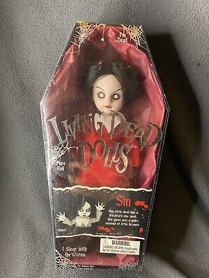 Mezco Toys LIVING DEAD DOLLS - SERIES 1 SIN - NEVER REMOVED Unsealed RARE • 74.93£