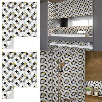 Peel And Stick Mosaic Effect Wall Stickers Tiles Paint Kitchen Bathroom Sticker • 6.69£