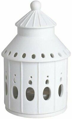 Rader LIGHT HOUSE Fairytale Castle HOME Tea Light Holder WHITE Porcelain Räder • 15.95£
