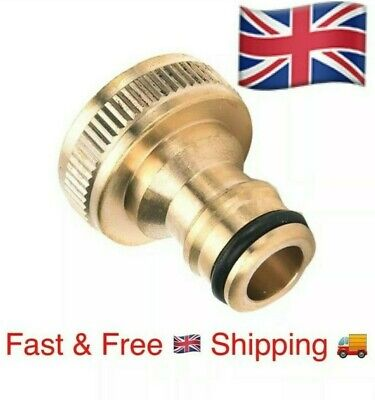 3/4 Brass Hose Tap Connector Threaded Garden Water Pipe Adaptor Fitting MALE • 3.48£