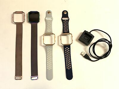 $ CDN144.21 • Buy FitBit Blaze Smart Fitness Watch, USB Charger And 4 Wrist Bands