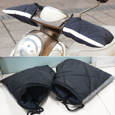 Motorcycle Scooter Quad Bike Handlebar Hand Muffs Over Gloves Winter Warmers • 10.98£