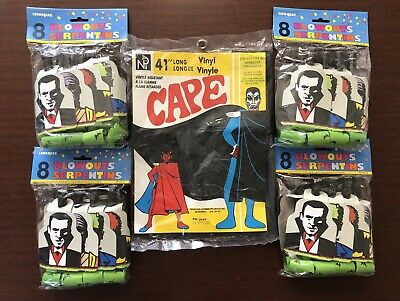 $ CDN20 • Buy UPDATED ** Vintage Halloween Lot / 9 Packs Universal Monster Blowers Vinyl Cape