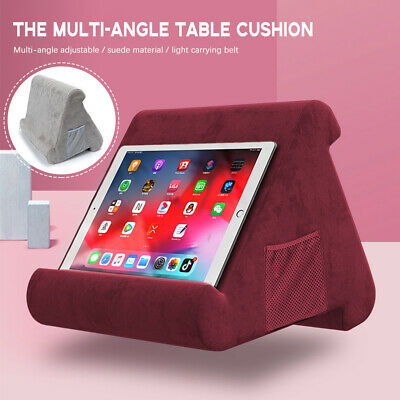 AU14.99 • Buy Tablet Pillow IPad Stands For Book Reader Holder Rest Laps Reading Cushion