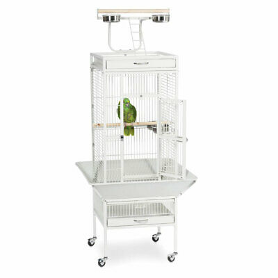 62  Large Bird Cage Play Top Parrot Cockatiel Parakeet Amazon Cage W Stand Perch • 99.99£