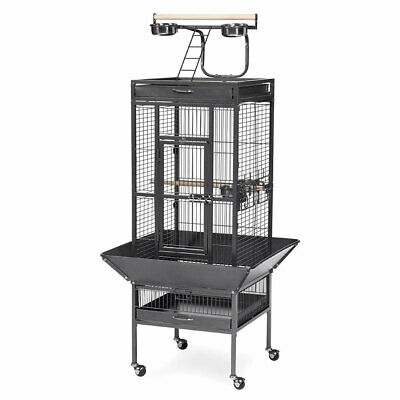 61  Parrot Bird Cage Play Top Finch Chinchilla Cockatiel Conure Parakeet W Stand • 99.99£
