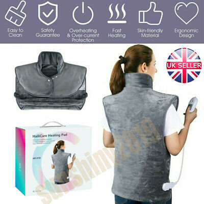 Therapeutic Electric Heat Pad Soothing Muscle Tension Back Neck Pain Relief Body • 35.88£