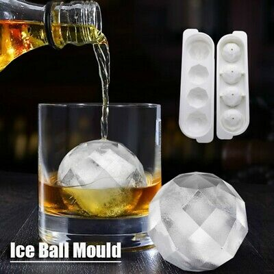 Safety Plastic Whiskey Ice Ball Cube Maker Tray Sphere Mould Mold. • 6.32£